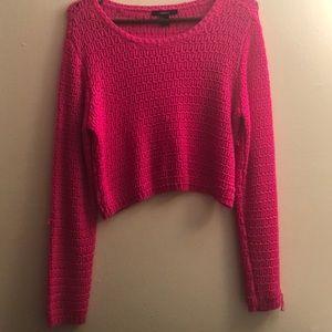 A Hot pink light sweater